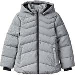Name It Leopard Patterned Relective Puffer Jacket - Grey/Frost Gray (13184016)