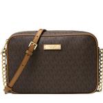 Axelrem Väskor Michael Kors Jet Set Travel Logo Crossbody Bag - Brown