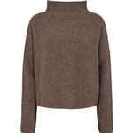 Filippa K Mika Yak Funnelneck Sweater - Dark Taupe Melange