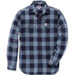 Jackor Herrkläder Carhartt Hubbard Slim Fit Flannel Shirt - Steel Blue