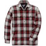 Jackor Herrkläder Carhartt Hubbard Sherpa Lined Plaid Flannel Shirt - Dark Crimson