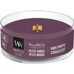 Woodwick Dark Poppy Petite Doftljus