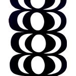 Marimekko Kaivo Vit, Svart (88x145cm)