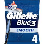 Gillette Blue 3 Smooth 4 -Pack