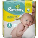 Pampers Premium Baby Nappies Size 1 2-5kg 22pcs