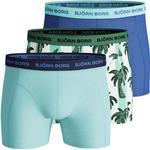 Björn Borg Palmstripe Essential Shorts 3-pack - Blue Tint