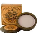Geo F Trumper Almond Hard Shaving Soap Wooden Bowl