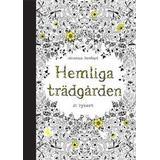Vykort att färglägga Böcker Hemliga Trädgården - 20 vykort att färglägga (Häftad, 2014)