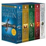 Game of thrones bok A Game of Thrones 5 Books Box Set (Pocket, 2012)