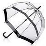 Genomskinligt paraply Fulton Birdcage 1 Black