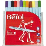 Hobbymaterial Berol Twisted Fine Fibre Tipped Pen 0.6mm 12-pack