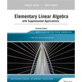 Howard anton elementary linear algebra Böcker Elementary Linear Algebra with Supplemental Applications, 11th Edition, Int (Häftad, 2014)