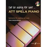 Piano böcker Det är aldrig för sent att spela piano inkl CD: nybörjarbok för ungdomar och vuxna (Häftad, 2013)
