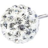 Örhängen Blomdahl Caring Jewellery Natural Titanium Earrings w. White Crystal Ball - 0.6cm