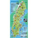 Karta sverige Böcker Sverige – skolbarnsfolder (Karta, Falsad., 2011)