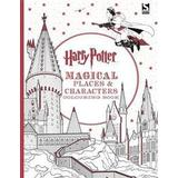 Harry potter colouring Böcker Harry Potter Magical Places and Characters Colouring Book (Häftad, 2016)