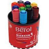 Hobbymaterial Berol Fiberpenna Color Marker 12-pack