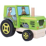 Activity Toys - Toy Vehicles Bigjigs Stacking Tractor
