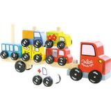 Activity Toys - Toy Vehicles Vilac Truck & Trailer with Cars Stacking Game 2417