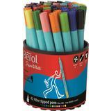 Hobbymaterial Berol Tipped Pen Colour Fine Fibre 0.6mm 42-pack