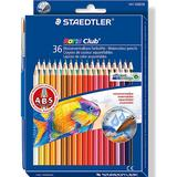 Akvarellpennor Staedtler Norris Club Watercolors Colored Pencil 36-pack