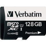 Minneskort micro sd 128gb Verbatim Premium MicroSDXC UHS-I U1 128GB