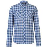 Skjortor Herrkläder Firetrap Blackseal Blue Check Shirt Blue