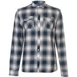 Skjortor Herrkläder Firetrap Blackseal Shadow Check Shirt Teal
