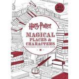 Harry potter colouring Böcker Harry Potter Magical PlacesCharacters Postcard Colouring Book (Häftad, 2016)