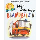 Halvan här kommer arne norlin Böcker Här kommer brandbilen (Kartonnage, 1997)