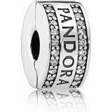 Berlocker och hängen Pandora Logo Clip Charm - Silver
