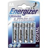 AA (LR6) Batterier och Laddbart Energizer AA Ultimate Lithium 4-pack