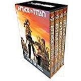 Attack on titan manga Böcker Attack on Titan Season 1 Manga Set (Pocket, 2018)