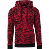 Hoodie Herrkläder Urban Classics Sweat Camo Bomber Hoody - Red Camo