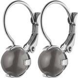 Clipsörhängen Dyrberg/Kern Cisilia Earpost Stainless Steel Earrings w. Grey Opal (350460)