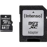 Minneskort micro sd kort 64gb Intenso Professional microSDXC Class 10 UHS-I U1 90/90MB/s 64GB +Adapter