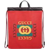 Ryggsäckar Gucci Print Backpack - Hibiscus Red