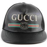 Keps Herrkläder Gucci Print leather Baseball Hat - Black