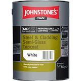 Anti-corrosion Paint Johnstone's Trade Steel & Cladding Semi-Gloss Topcoat Anti-corrosion Paint White 5L