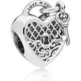Smycken Pandora Love You Lock Silver Charm (797655)