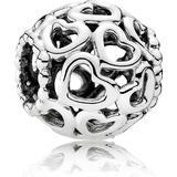 Berlocker och hängen Pandora Openwork Heart Silver Charm (790964)