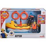 Brandman Sam Leksaker Simba Sam Neptune Boat Incl Figurine