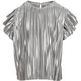 Blus/Tunika Blus/Tunika Creamie Plisse Blouse - Silver (821059-1020)