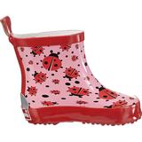 Barnskor Playshoes Rubber Boot Half-Shaft Ladybug - Pink