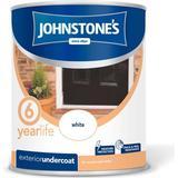 Primer Paint Johnstones Weatherguard Exterior Undercoat Wood Paint, Metal Paint White 0.75L