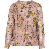Blus/Tunika Blus/Tunika Creamie Blouse Printed Chiffon - Rose Smoke (821242-5506)