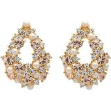 Örhängen Lily and Rose Alice Pearl Gold Earrings w. Swarovski Crystals (60578)