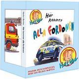 Halvan här kommer arne norlin Böcker Här kommer alla fordonen: pekbok och kubpussel (Board book)