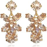 Smycken Caroline Svedbom Mini Dione Gold Plated Earrings w. Silk Swarovski Crystals