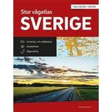 Sverige vägatlas Böcker Stor Vägatlas Sverige: Vägatlas i stort format, skala 1:250000-1:400000